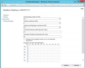 03 - ECP - Server - Postfachdatenbank Grenzwerte